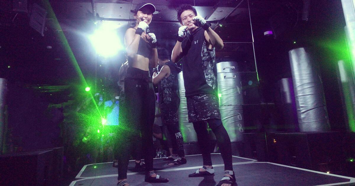 BurnesStyle(バーネススタイル)銀座店で暗闇キックボクシング体験